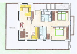 Tlesura Suite (2 – 6 people – 65m²)